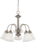 """NUVO Lighting 60/3240 Ballerina 5 Light 24"""" Chandelier with Frosted White Glass"""