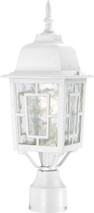 """NUVO Lighting 60/4927 Banyan 1 Light 17"""" Outdoor Post with Clear Water Glass"""