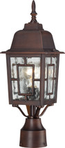 """NUVO Lighting 60/4928 Banyan 1 Light 17"""" Outdoor Post with Clear Water Glass"""