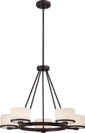 NUVO Lighting 60/5575 Celine 5 Light Chandelier with Etched Opal Glass