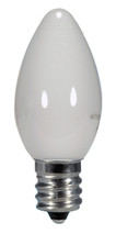 SATCO S9157 Set of 6 Candle LED Lightbulbs (0.5W/C7/WH/LED/120V/CD)