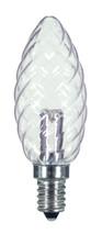 SATCO S9155 Set of 6 Candle LED Lightbulbs (1W/CTD/LED/CRYSTAL/120V/CD)