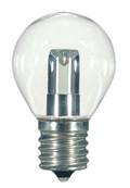 SATCO S9167 Set of 6 Sign & Indicator LED Lightbulbs (1.0W/S11/CL/LED/E17/120V/CD)