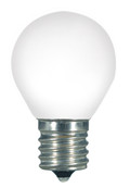 SATCO S9168 Set of 6 Sign & Indicator LED Lightbulbs (1.0W/S11/WH/LED/E17/120V/CD)