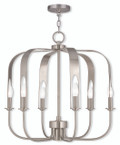LIVEX Lighting 51936-91 Addison Contemporary Chandelier in Brushed Nickel (7 Light)