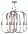 LIVEX Lighting 51938-91 Addison Contemporary Chandelier in English Bronze (9 Light)