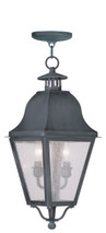 LIVEX Lighting 2546-61 Amwell Outdoor Chain Lantern in Charcoal (2 Light)