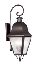 LIVEX Lighting 2555-07 Amwell Outdoor Wall Lantern in Bronze (3 Light)