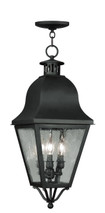 LIVEX Lighting 2557-04 Amwell Outdoor Chain Lantern in Black (3 Light)