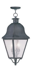 LIVEX Lighting 2557-61 Amwell Outdoor Chain Lantern in Charcoal (3 Light)