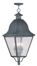 LIVEX Lighting 2547-61 Amwell Outdoor Chain Lantern in Charcoal (4 Light)
