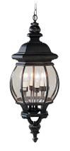 LIVEX Lighting 7705-04 Frontenac Chain Lantern in Black (4 Light)