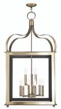 LIVEX Lighting 43180-01 Garfield Lantern in Antique Brass (9 Light)