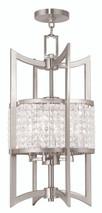 LIVEX Lighting 50566-91 Grammercy Lantern in Brushed Nickel (4 Light)