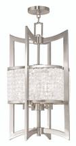 LIVEX Lighting 50567-91 Grammercy Lantern in Brushed Nickel (4 Light)