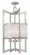 LIVEX Lighting 50569-91 Grammercy Lantern in Brushed Nickel (5 Light)