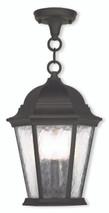 LIVEX Lighting 75469-14 Hamilton Chain Lantern in Textured Black (3 Light)
