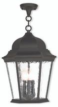 LIVEX Lighting 75475-14 Hamilton Chain Lantern in Textured Black (3 Light)