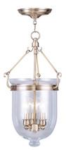 LIVEX Lighting 5063-01 Jefferson Chain Lantern in Antique Brass (3 Light)