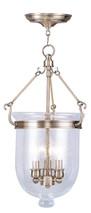LIVEX Lighting 5083-01 Jefferson Chain Lantern in Antique Brass (3 Light)