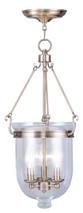 LIVEX Lighting 5064-01 Jefferson Chain Lantern in Antique Brass (3 Light)