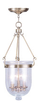 LIVEX Lighting 5084-01 Jefferson Chain Lantern in Antique Brass (3 Light)