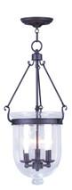 LIVEX Lighting 5084-07 Jefferson Chain Lantern in Bronze (3 Light)