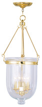 LIVEX Lighting 5065-02 Jefferson Chain Lantern in Polished Brass (4 Light)