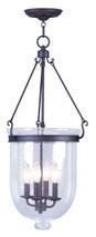 LIVEX Lighting 5085-07 Jefferson Chain Lantern in Bronze (4 Light)