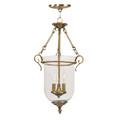 LIVEX Lighting 5022-01 Legacy Chain Lantern in Antique Brass (3 Light)