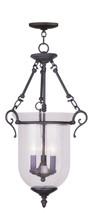 LIVEX Lighting 5025-07 Legacy Chain Lantern in Bronze (3 Light)