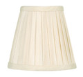 LIVEX Lighting S316 Off-White Pleat Empire Silk Clip Shade