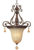 Classic Lighting 71153 TS Riviera Wrought Iron Pendant in Tortoise Shell