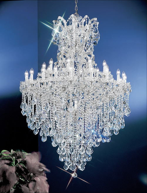Classic lighting 8183 ch s maria theresa traditional crystal classic lighting 8183 ch s maria theresa traditional crystal chandelier in chrome imported from italy mozeypictures Choice Image