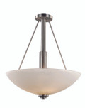 "Mod Pod 20"" Indoor Rubbed Oil Bronze Modern Pendant with White Frost Glass Shades"