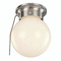"""Dash 6"""" Indoor Brushed Nickel Traditional Flushmount with Opal Glass Globe Shade"""
