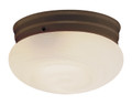 """Dash 10"""" Indoor Rubbed Oil Bronze Traditional Flushmount with Opal Glass Globe Shade"""