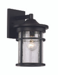 "11"" Outdoor Black Transitional Wall Lantern with Cast Aluminum Frame"