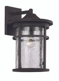 "14.5"" Outdoor Rust Transitional Wall Lantern with Cast Aluminum Frame"