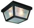"Samantha 5"" Outdoor Black Traditional Flushmount Lantern"