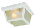 "Samantha 5"" Outdoor White Traditional Flushmount Lantern"