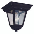 "Robertson 7.25"" Outdoor Black Traditional Flushmount Lantern"