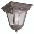 "Robertson 7.25"" Outdoor Rust Traditional Flushmount Lantern"