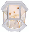 "San Marcos 6.5"" Outdoor White Traditional Flushmount Lantern"