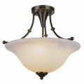 "Perkins 18"" Indoor Weathered Bronze Transitional  Semiflush"
