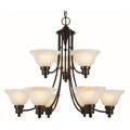 "Trans Globe Lighting 6549 WB 30"" Indoor Weathered Bronze Transitional Chandelier"