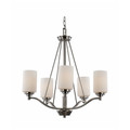 "Mod Pod Collection 25"" Indoor Brushed Nickel Modern Chandelier"