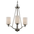 "Mod Pod Collection 20.5"" Indoor Brushed Nickel Modern Chandelier"