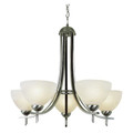 "Vitalian Vitalian 24"" Brushed Nickel Contemporary Chandelier with Multiple Glass Choices for Shades"