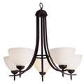 "Vitalian Vitalian 24"" Oil Bronze Contemporary Chandelier with Multiple Glass Choices for Shades"
